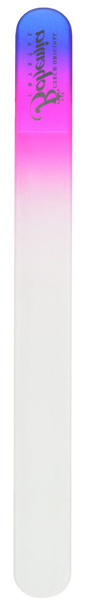 Bohemia Пилочка для ногтей, стеклянная, чехол из мягкого пластика, цвет: фиолетовый, розовый bohemia