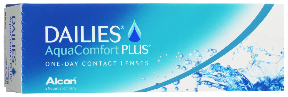 Alcon-CIBA Vision контактные линзы Dailies AquaComfort Plus (30шт / 8.7 / 14.0 / -2.00)12096Dailies AquaComfort Plus - это одни из самых популярных однодневных линз производства компании Ciba Vision. Эти линзы пользуются огромной популярностью во всем мире и являются на сегодняшний день самыми безопасными контактными линзами. Изготавливаются линзы из современного, 100% безопасного материала нелфилкон А. Особенность этого материала в том, что он легко пропускает воздух и хорошо сохраняет влагу. Однодневные контактные линзы Dailies AquaComfort Plus не нуждаются в дополнительном уходе и затратах, каждый день вы надеваете свежую пару линз. Дизайн линзы биосовместимый, что гарантирует безупречный комфорт. Самое главное достоинство Dailies AquaComfort Plus - это их уникальная система увлажнения. Благодаря этой разработке линзы увлажняются тремя различными агентами. Первый компонент, ухаживающий за линзами, находится в растворе, он как бы обволакивает линзу, обеспечивая чрезвычайно комфортное надевание. Второй агент выделяется на протяжении всего дня, он непрерывно смачивает линзы. Третий - увлажняющий агент, выделяется во время моргания, благодаря ему поддерживается постоянный комфорт. Также линзы имеют УФ-фильтр, который будет заботиться о ваших глазах. Dailies AquaComfort Plus одни из лучших линз в своей категории. Всемирно известная компания Ciba Vision, создавая эти контактные линзы, попыталась учесть все потребности пациентов и ей это удалось! Характеристики:Материал: нелфилкон А. Кривизна: 8.7. Оптическая сила: - 2.00. Содержание воды: 69%. Диаметр: 14 мм. Количество линз: 30 шт. Размер упаковки: 15,5 см х 5 см х 3 см. Производитель: США. Товар сертифицирован.Контактные линзы или очки: советы офтальмологов. Статья OZON Гид