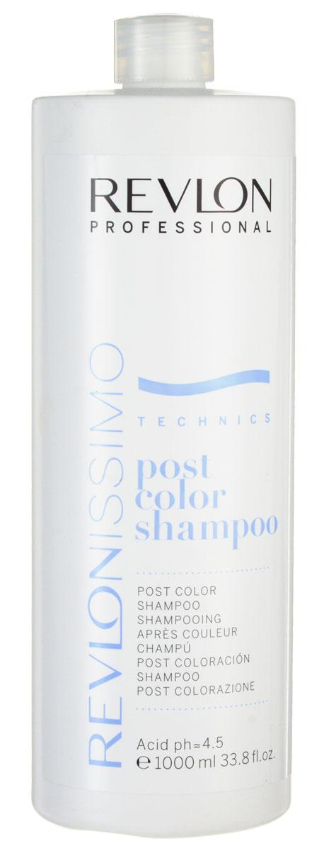 Revlon Professional Шампунь после окрашивания Post Color Shampoo 1000 млE0700994Шампунь после окрашивания Ревлон (Post Color Shampoo Revlon) является завершающим этапом в процессе окрашивания. Он полностью избавляет волосы и кожу головы от остатков химических компонентов красителя. Восстанавливает pH волос и кожи головы.