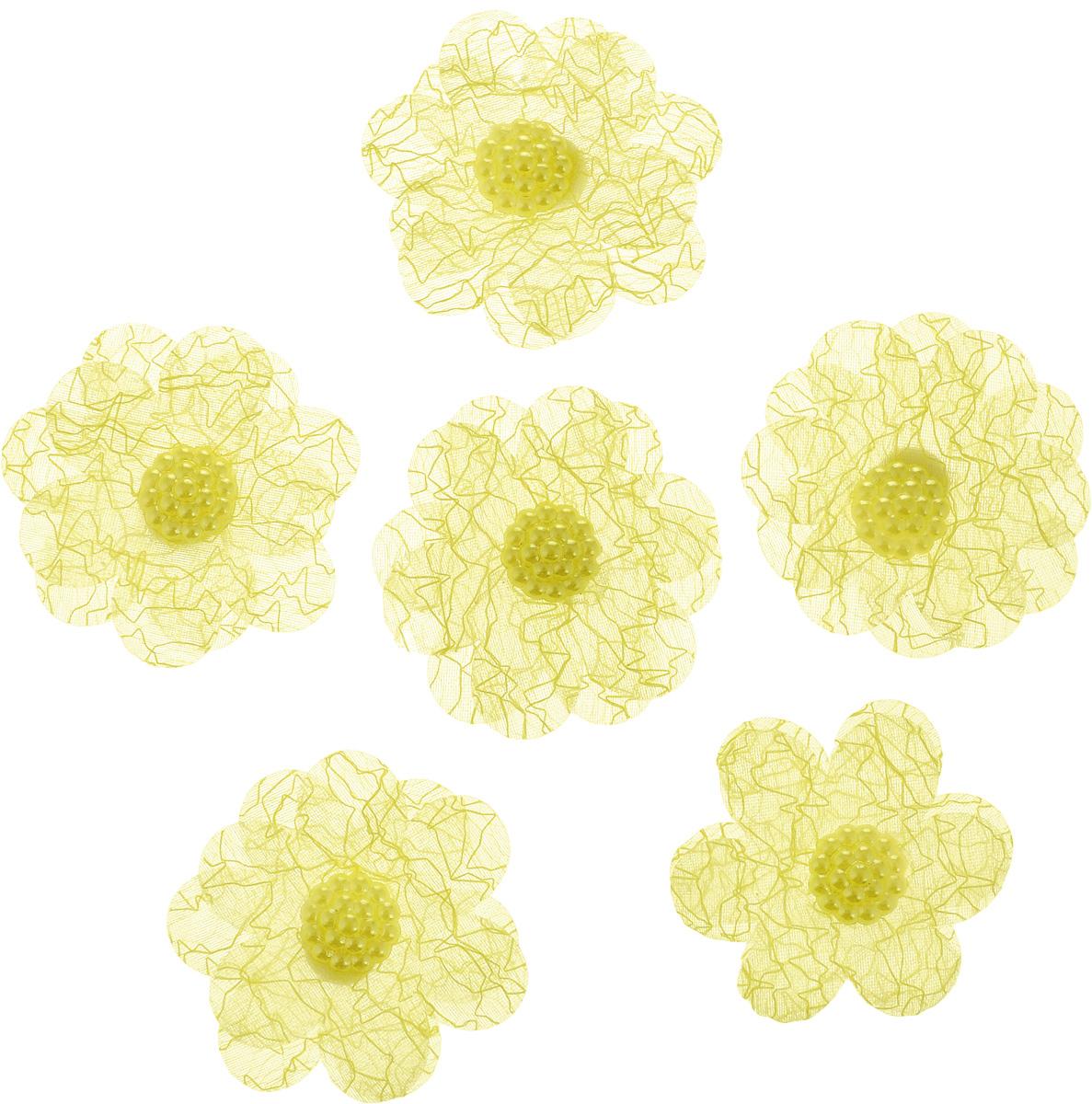 Набор украшений для яиц Home Queen Цветы, на клейкой основе, цвет: светло-желтый, 6 шт64512_4Набор Home Queen Цветы состоит из шести декоративных элементов и предназначен для украшения яиц, посуды, стекла, керамики, металла, цветочных горшков, ваз и других предметов интерьера. Украшения изготовлены из полиэстера в виде цветов и фиксируются при помощи специальной клейкой основы. Такой набор украшений создаст атмосферу праздника в вашем доме.