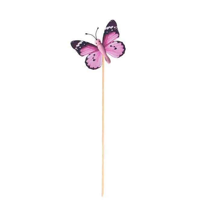 Украшение на ножке Village people Летающие бабочки. 66964_666964-6Украшение на ножке Летающие бабочки украсит садовый учаток