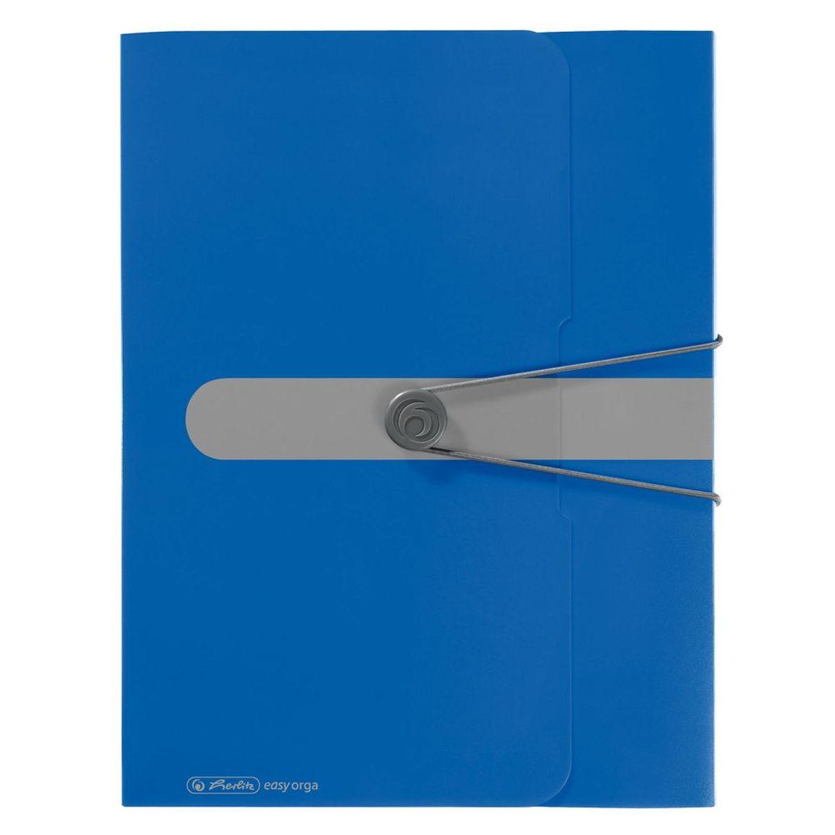 Herlitz Папка-конверт Easy orga to go цвет синий11206125Папка-конверт Herlitz Easy orga to go станет вашим верным помощником дома и в офисе.Это удобный и функциональный инструмент, предназначенный для хранения и транспортировки больших объемов рабочих бумаг и документов формата А4. Папка изготовлена из износостойкого пластика и качественного полипропилена. Состоит из одного вместительного отделения. Закрывается папка при помощи резинки, а на корешке папки есть ярлычок.Папка - это незаменимый атрибут для любого студента, школьника или офисного работника. Такая папка надежно сохранит ваши бумаги и сбережет их от повреждений, пыли и влаги.