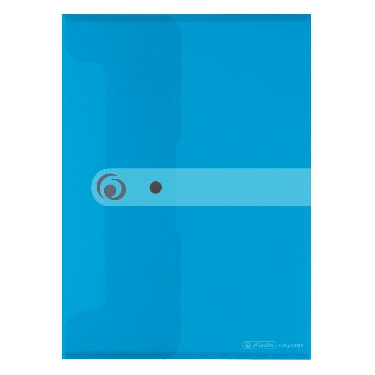 Herlitz Папка-конверт Easy orga формат A4 цвет голубой - Папки