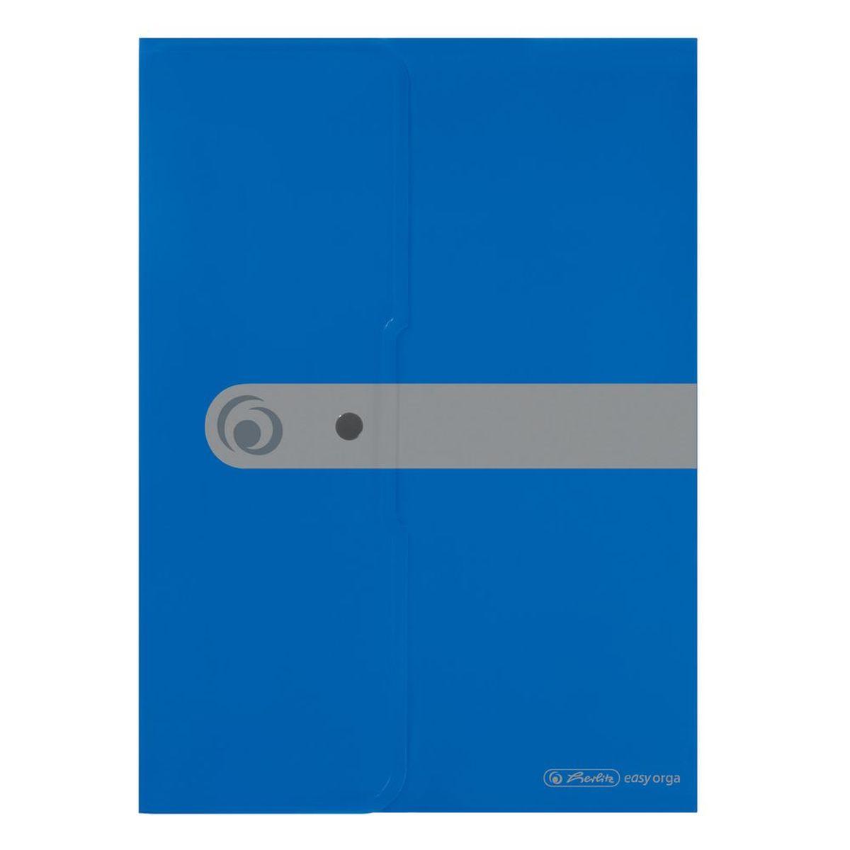 Herlitz Папка-конверт Easy orga формат A4 цвет синий11206703Папка-конверт для документов Herlitz Easy orga станет вашим верным помощником дома и в офисе.Это удобный и функциональный инструмент, предназначенный для хранения и транспортировки больших объемов рабочих бумаг и документов формата А4. Папка изготовлена из качественного полипропилена. Состоит из одного вместительного отделения. Закрывается папка просто и удобно - при помощи кнопки, которая ее надежно фиксирует.Папка - это незаменимый атрибут для любого студента, школьника или офисного работника. Такая папка надежно сохранит ваши бумаги и сбережет их от повреждений, пыли и влаги.