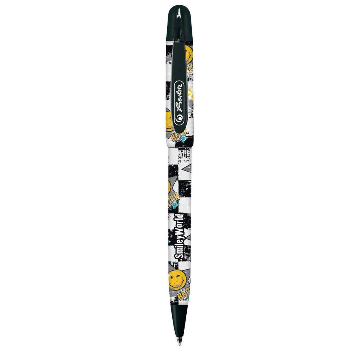 Herlitz Ручка шариковая Smiley World11234408Шариковая ручка Herlitz Smiley World в пластиковом корпусе станет незаменимыматрибутом любого школьника.Она долго пишет благодаря увеличенномузапасу чернил и возможности замены стержня.Цвет чернил: синий.