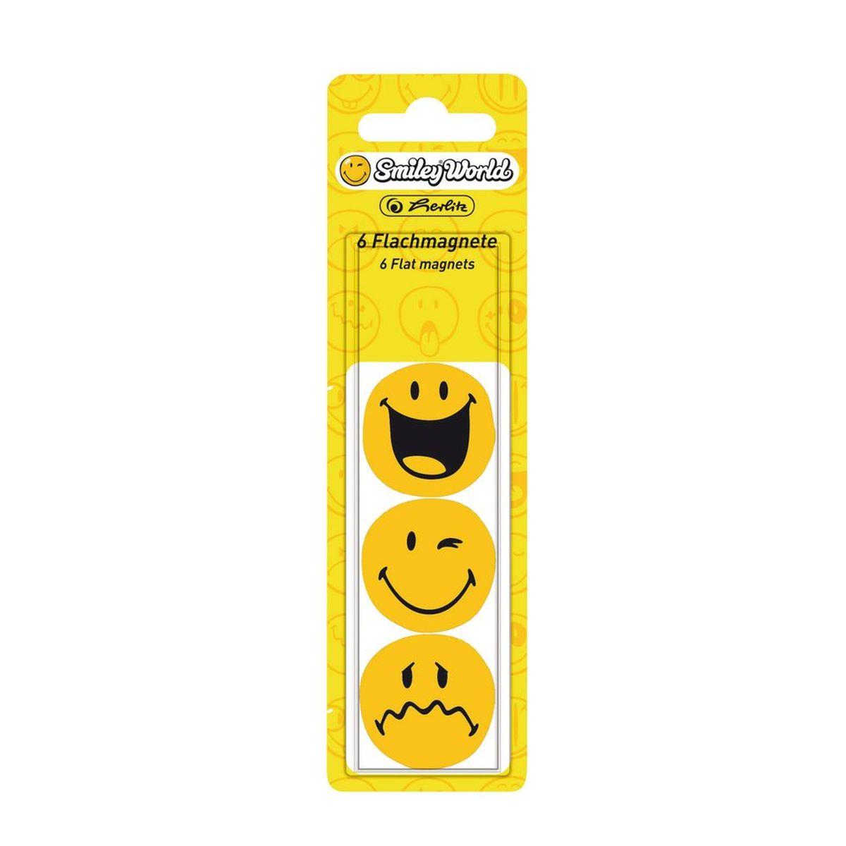 Herlitz Магнит для досок SmileyWorld 6 шт -  Аксессуары для досок и флипчартов