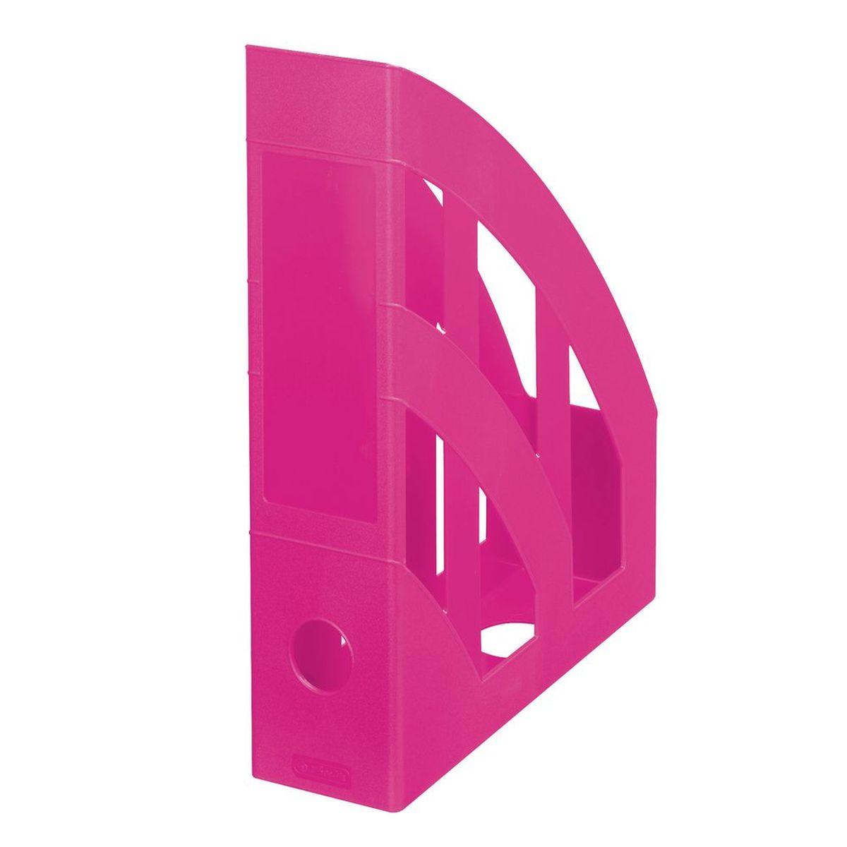 Herlitz Подставка для документов Classic цвет розовый11363728Практичная подставка для бумаги формата А4 Herlitz всегда поможет вам избавиться от лишних документов и содержать порядок на рабочем столе. Она изготовлена из пластика и имеет круглый слот на задней стенке, находится всегда в вертикальном положении, тем самым обеспечивая надежную фиксацию различных документов.Подставка для документов значительно облегчает делопроизводство. Яркий дизайн позволит ей стать достойным аксессуаром среди ваших канцелярских принадлежностей и будет дарить вам хорошее настроение.