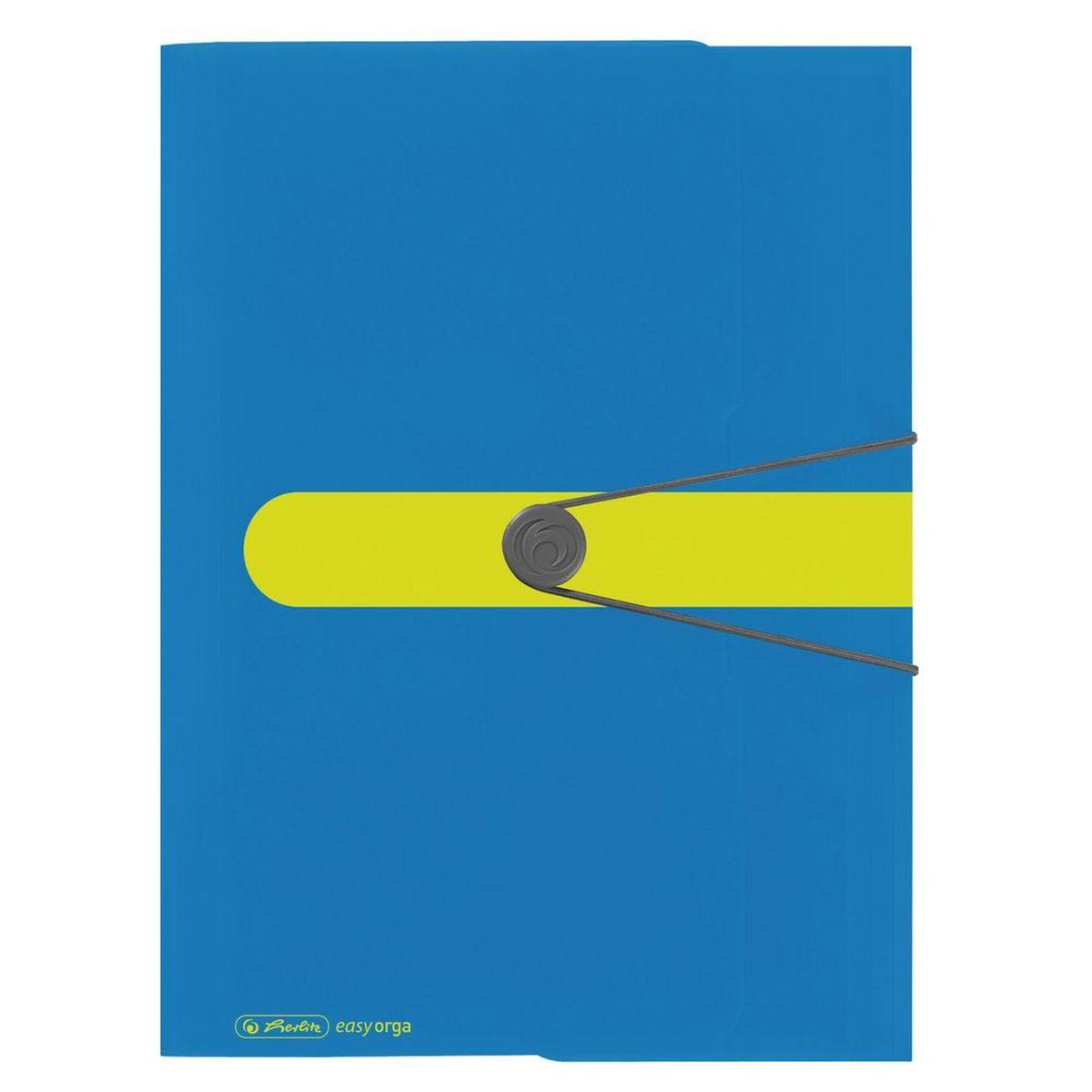 Herlitz Папка Easy Orga цвет синий желтый - Папки