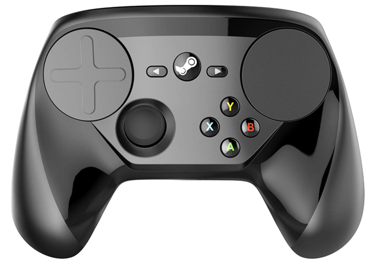 Steam Controller беспроводной геймпадSL-6576-BK-02Контроллер Steam позволяет играть во все Steam игры на телеэкране, даже в те, которые не были специально разработаны с поддержкой контроллера. Два трекпада с невероятно точным контролем, тактильная отдача в высоком разрешении, триггеры с двойным уровнем нажатия, кнопки на обратной стороне и полностью настраиваемые раскладки. Найдите самые удобные из них через сообщество Steam или создайте и поделитесь своими.Улучшены разрешение и точность ввода по сравнению с обычными контроллерами. Благодаря высокоточным технологиям ввода и фокусировки на беспроводном соединении с низкой задержкой, контроллер Steam позволяет по-новому почувствовать любимые игры.Два трекпада контроллера Steam делают возможным безупречное управление, необходимое для высококачественных ПК игр в вашей гостиной. Контроллер поддерживает ввод абсолютно точного формата один-к-одному с помощью виртуализированных систем управления, например трекбола, адаптационного центрирующегося джойстика и даже рулевого колеса. Эти поверхности могут быть запрограммированы для поддержки всего, что требуется игре.Приводы тактильной отдачи, расположенные с обеих сторон контроллера, способны на высокоточную вибрацию, измеряемую в микросекундах. Почувствуйте вращение виртуального трекбола, щелчки колеса виртуальной мыши и выстрелы винтовки. Все виды ввода, от триггеров до трекпадов, поддерживают тактильную отдачу, предоставляя важную, обширную информацию о скорости передвижения, внутриигровых границах и порогах, а также текстурах и действиях.С удовлетворительным цифровым щелчком в конце нажатия, триггеры с двойным уровнем нажатия поддерживают аналоговый, цифровой или оба режима ввода одновременно. Наведите мушку на цель легким нажатием триггера и с надежным ощущением тактильного привода стреляйте всё той же кнопкой.Все зоны ввода и кнопки на контроллере Steam расположены на основе частоты использования, требуемой точности ввода и удобства.Требуется Steam Machine или другой комп