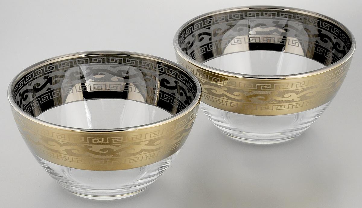 Набор салатников Гусь-Хрустальный Версаче, диаметр 13 см, 2 шт набор бокалов для бренди гусь хрустальный версаче 400 мл 6 шт