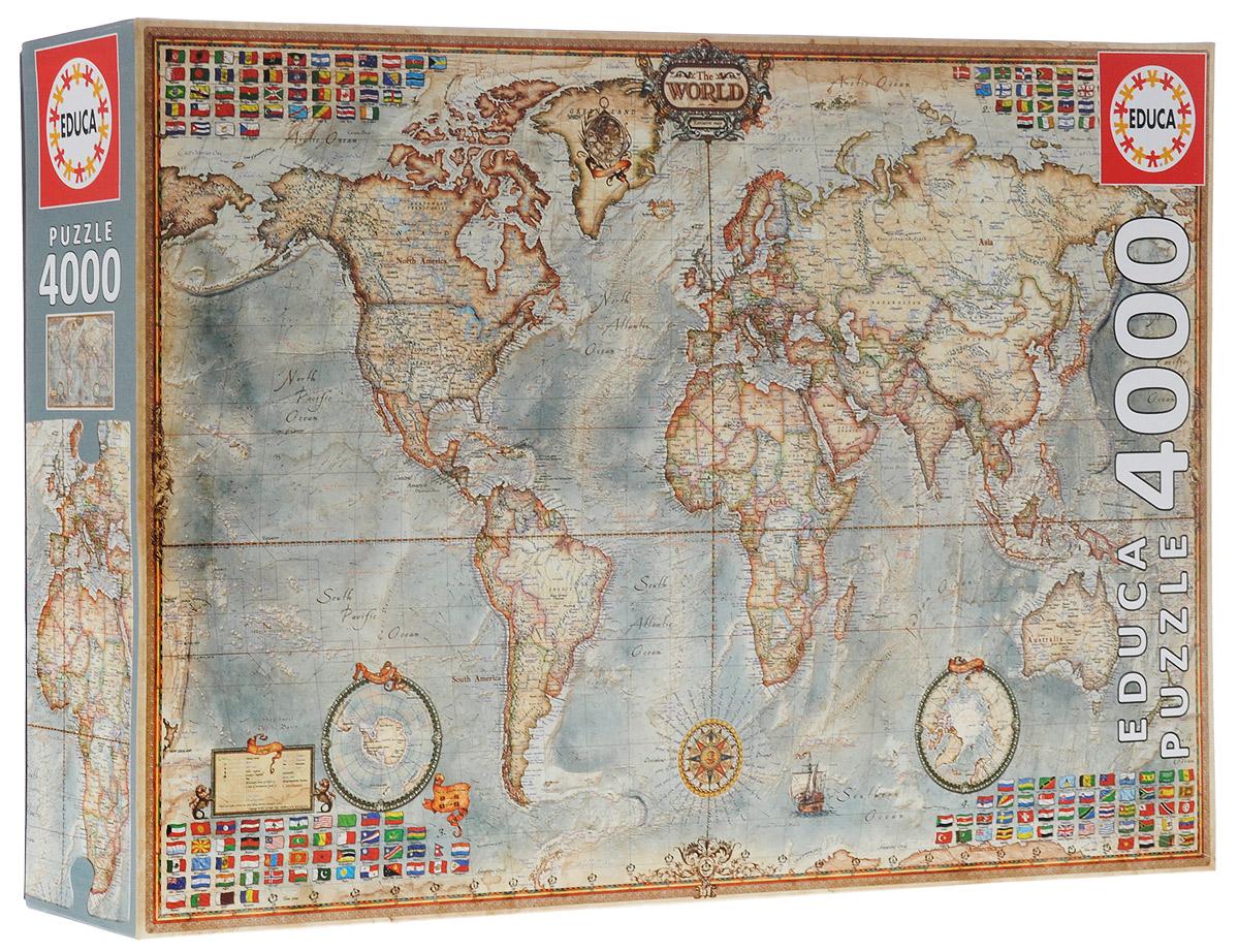 Карта мира. Пазл, 4000 элементов