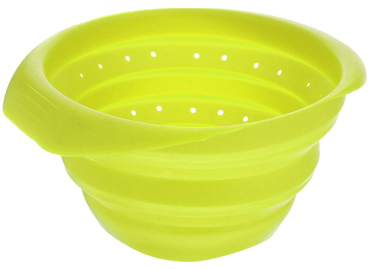 Дуршлаг Mayer & Boch, складной, цвет: зеленый, диаметр 15 см4432-2Дуршлаг Mayer & Boch изготовлен из качественного пищевого силикона. Благодаря гибкости материала, дуршлаг удобно складывается и занимает минимум места при хранении. В таком дуршлаге удобно промывать ягоды, фрукты, овощи, а также процеживать макароны.Дуршлаг является необходимым аксессуаром для каждой кухни. Он станет полезным и практичным приобретением.