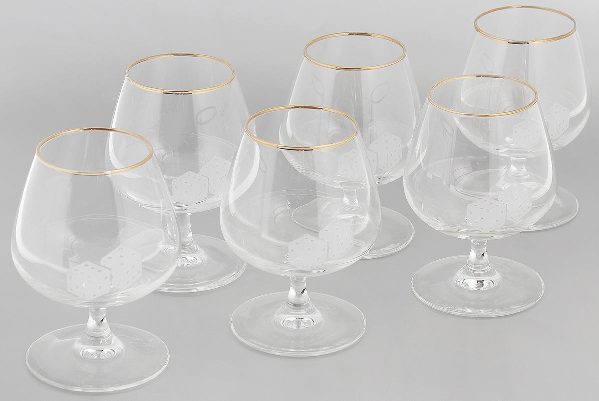 Набор бокалов для бренди Гусь-Хрустальный Кости, 410 мл, 6 шт набор бокалов для бренди гусь хрустальный версаче 400 мл 6 шт