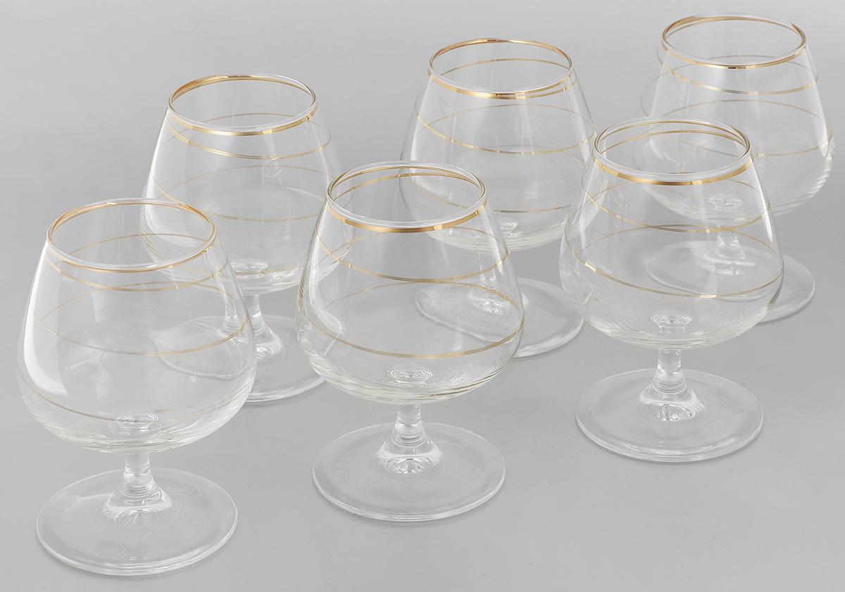 Набор бокалов для бренди Гусь-Хрустальный Змейка, 410 мл, 6 шт набор бокалов для бренди гусь хрустальный эдем каскад