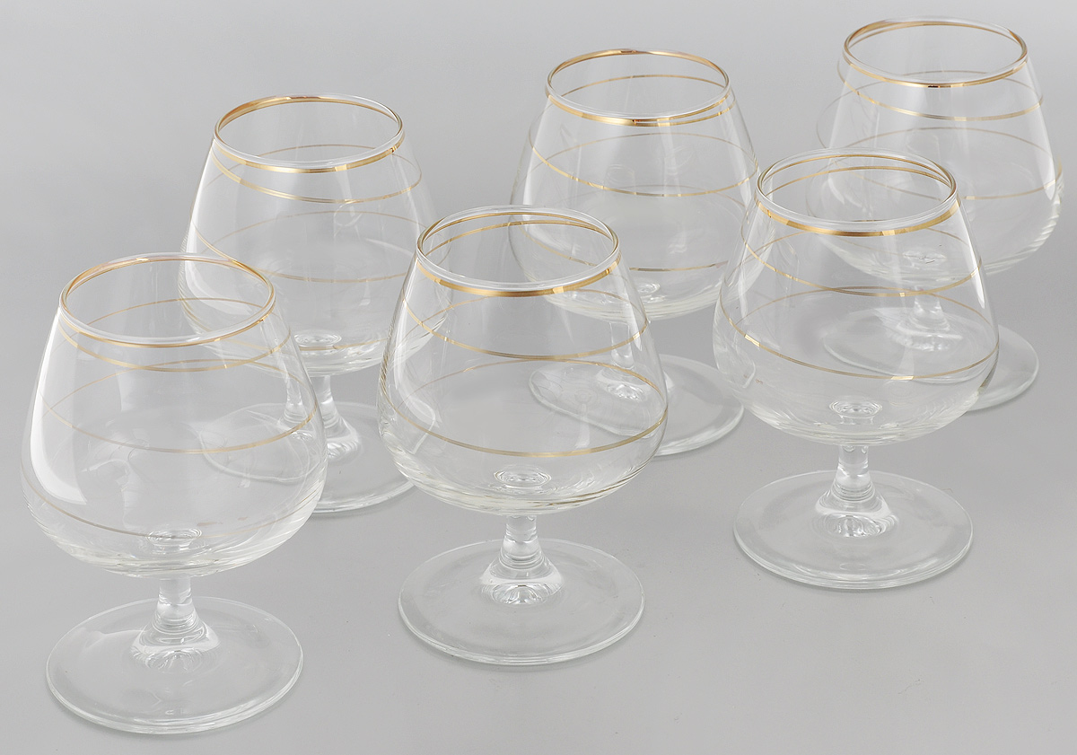 Набор бокалов для бренди Гусь-Хрустальный Змейка, 410 мл, 6 шт набор бокалов для бренди гусь хрустальный нежность 410 мл 6 шт