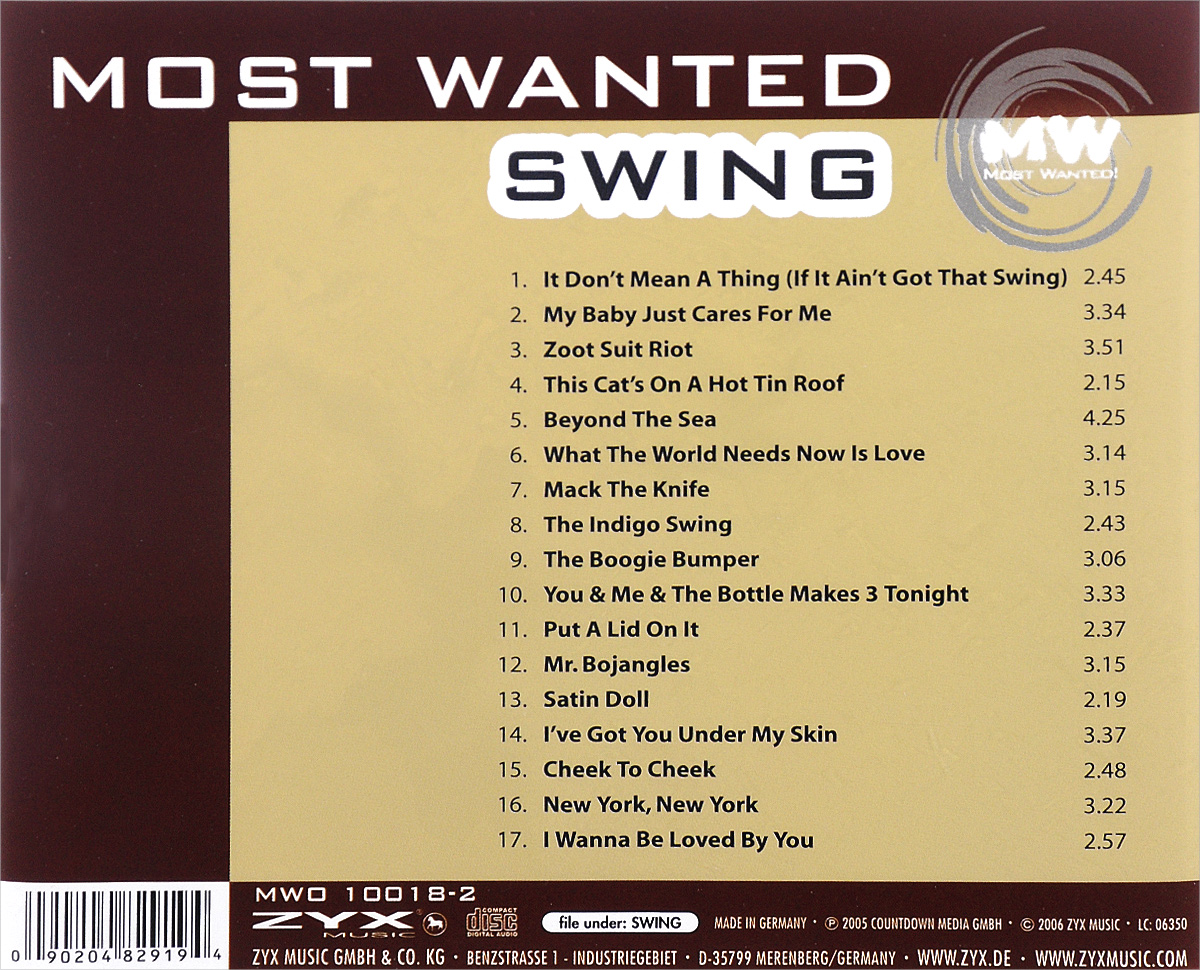 Most Wanted.  Swing Волтэкс-инвест,ZYX Music