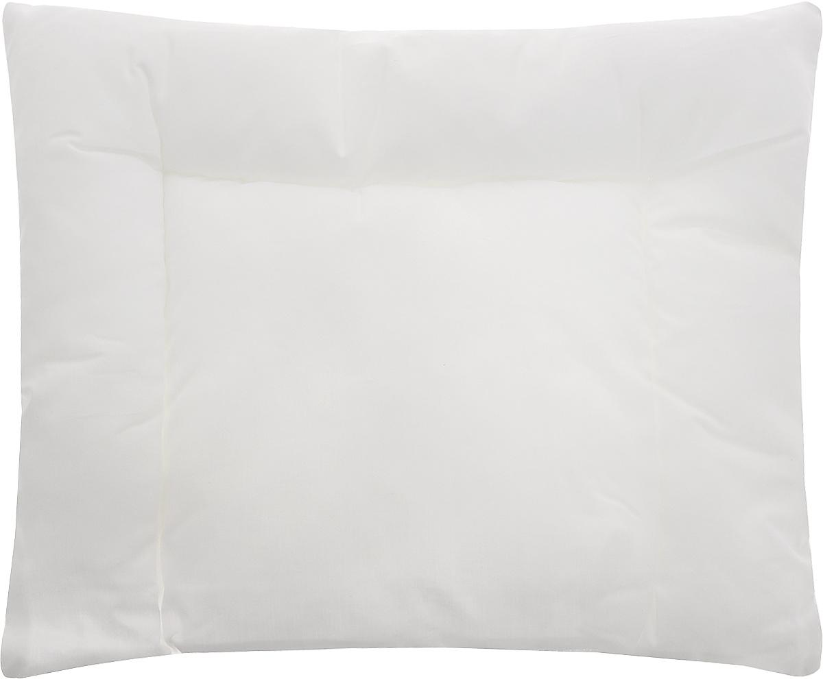 """Детская подушка """"TAC"""" - это низкая подушка для малышей с рождения. Белоснежный 100% хлопковый чехол не вызывает раздражения кожи, он мягкий, гигроскопичный. Гипоаллергенный наполнитель из силиконизированного волокна придает легкость в уходе, не отсыревает и не вбирает пыль.   Такая подушка отлично подойдет для отдыха ребенка в кроватке и во время прогулки в коляске.   Рекомендации по уходу: - Разрешена бережная машинная стирка при температуре не более 40 градусов, - Нельзя отбеливать. При стирке не использовать средства, содержащие отбеливатели (хлор),  - Не гладить, - Разрашена береженая химическая чистка,   - Нельзя выжимать и сушить в стиральной машине.  Материал чехла: хлопок.  Материал наполнителя: силиконизированное волокно.  Размер подушки: 35 х 45 см."""