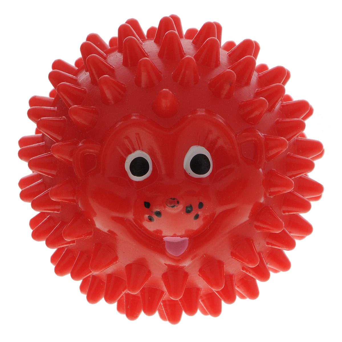 Массажер Дельтатерм Шарик-Ежик, цвет: красный, диаметр 50 мм00-00000225С помощью массажного мяча Шарик-Ежик можно самостоятельно проводить мягкий массаж ладоней, стоп и всего тела. Такой массаж способствует повышению кожно-мышечного тонуса, уменьшению венозного застоя и ускорению капиллярного кровотока, улучшению функционирования периферической и центральной нервных систем. Идеально подходит для проведения массажа у маленьких детей. Развивает мышление, координацию движений и совершенствует моторику нежных пальчиков малыша и является интересной веселой игрушкой.