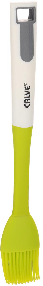 Кисточка кулинарная Calve, длина 28 смCL-1312Кулинарная кисточка Calve станет верным помощником в приготовлении домашней выпечки. Ей удобно смазывать противни, наносить на пироги взбитые яйца, глазурь, сироп, мед. Рукоятка изготовлена из прочного нейлона, а рабочая поверхность - из силикона. Кисточка абсолютна безопасна для антипригарного покрытия, не оставляет царапин. Изделие выдерживает высокую температуру до 210°С. Специальное отверстие на ручке позволяет подвесить кисть в удобном для вас месте. Кисточка Calve поможет в приготовлении ваших любимых блюд. Изделие можно мыть в посудомоечной машине. Длина кисточки: 28 см. Размер рабочей поверхности: 4,5 х 7 см.