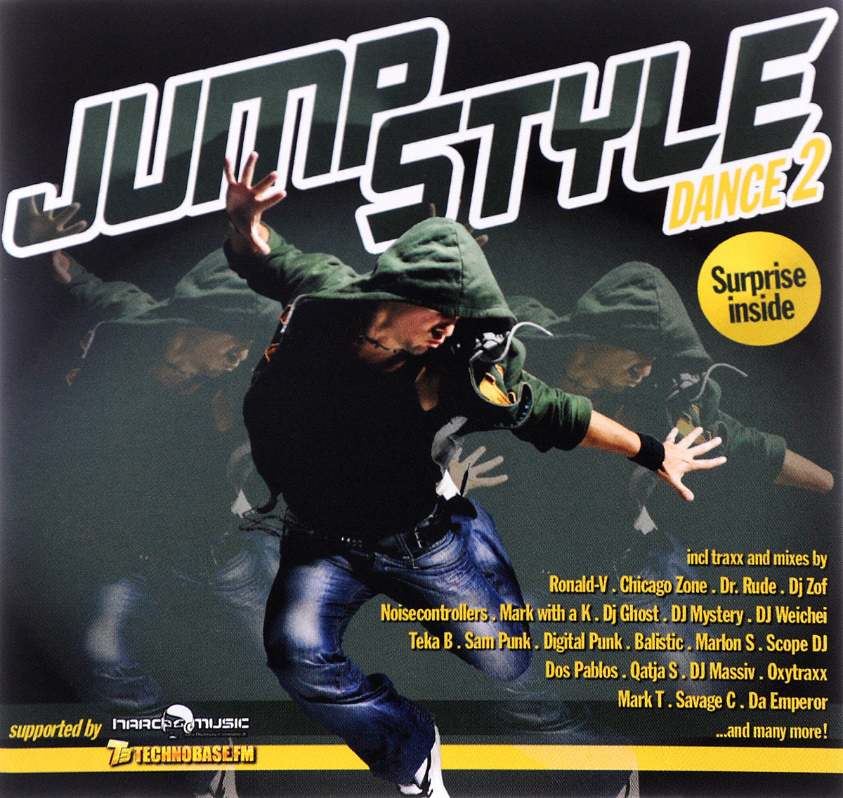 Da Emperor,Dany BPM,Demoniak,Digital Punk,DJ Ghost,Marlon,Noisecontrollers,DJ Massiv,The Carnaby,Jumperz Spirit,DJ Mystery,Comiccon,DJ Jones,DJ Yoeri,Mr Eyez,Savage,DJ Fenix,Chicago Zone,M-Bitious Jump Style. Dance 2 (2 CD) eshiny mini red green laser projector 20 patterns christmas party dj lighting lights disco party bar dance stage light show y21
