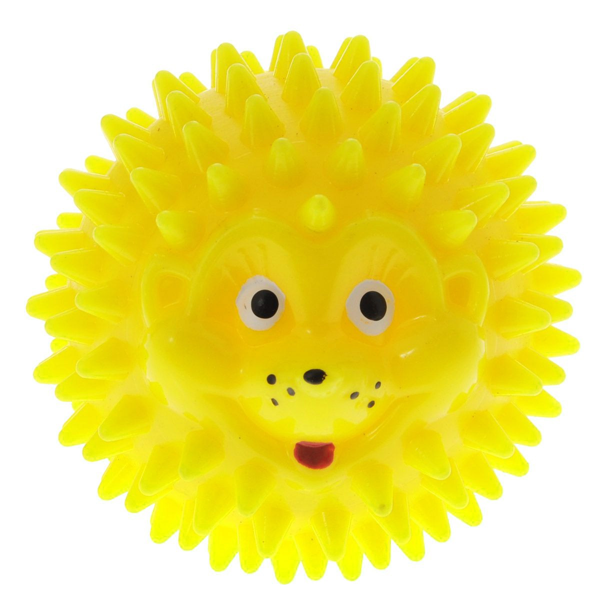 Массажер Дельтатерм Шарик-Ежик, цвет: желтый, диаметр 50 мм00-00000225С помощью массажного мяча Шарик-Ежик можно самостоятельно проводить мягкий массаж ладоней, стоп и всего тела. Такой массаж способствует повышению кожно-мышечного тонуса, уменьшению венозного застоя и ускорению капиллярного кровотока, улучшению функционирования периферической и центральной нервных систем. Идеально подходит для проведения массажа у маленьких детей. Развивает мышление, координацию движений и совершенствует моторику нежных пальчиков малыша и является интересной веселой игрушкой.