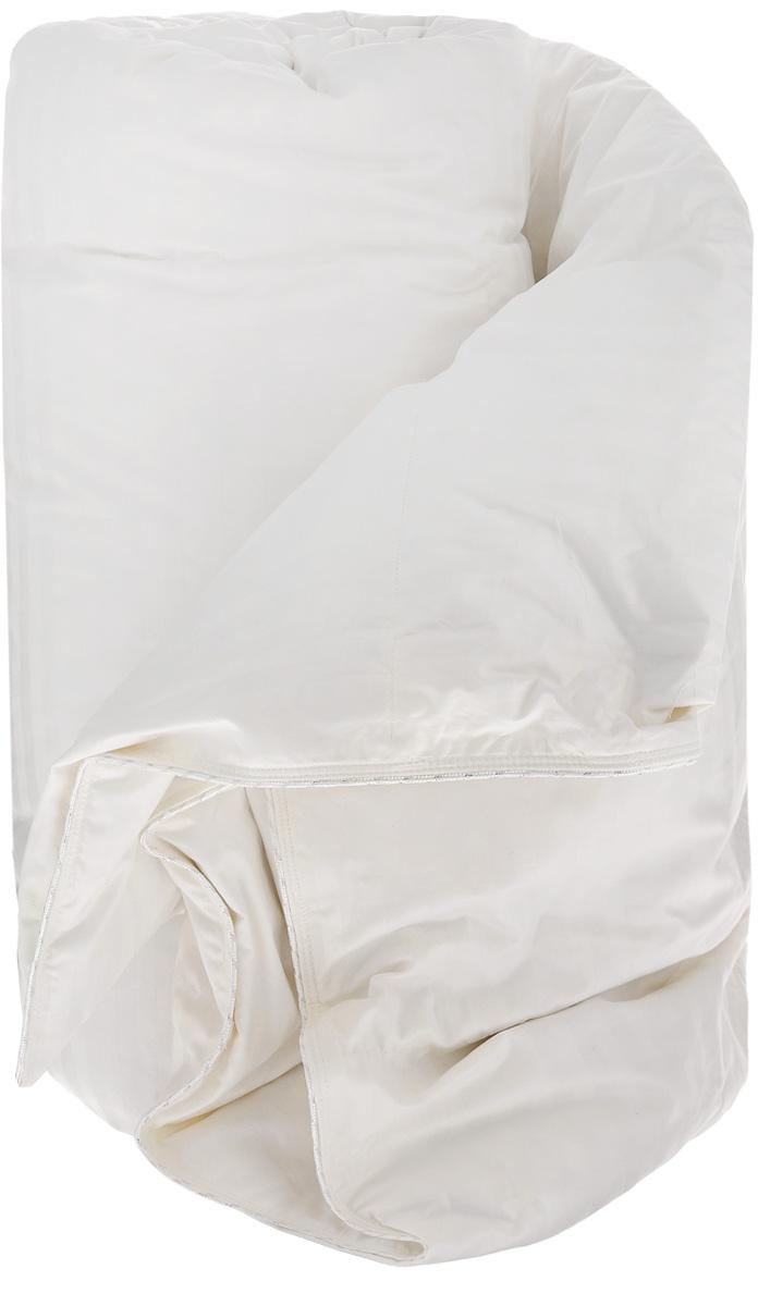 """Одеяло TAC """"Elite"""" с наполнителем, состоящим из 90% гусиного пуха и 10% гусиных перьев,  подарит вам здоровый и комфортный сон. Чехол одеяла  выполнен из натурального хлопка. Гусиное перо и пух – безопасный и экологически чистый наполнитель. В связи со своим  натуральным происхождением, гусиный пух защищает тело от перепадов температуры,  регулирует содержание влажности и создает подходящую атмосферу для сна. «Гидроскопичен» -  то есть поглощает выделяемый во время сна пот и выбрасывает обратно в дневное время.  Достаточно один раз в неделю встряхнуть и проветрить ваши одеяла и подушки для того чтобы  распушить наполнитель и избавить его от влаги. Не создает благоприятных условий для  жизнедеятельности бактерий, поэтому не образует запаха. Не вызывает аллергических реакций и  гигиеничен. Может подвергаться стирке.  Размер одеяла: 155 х 215 см."""