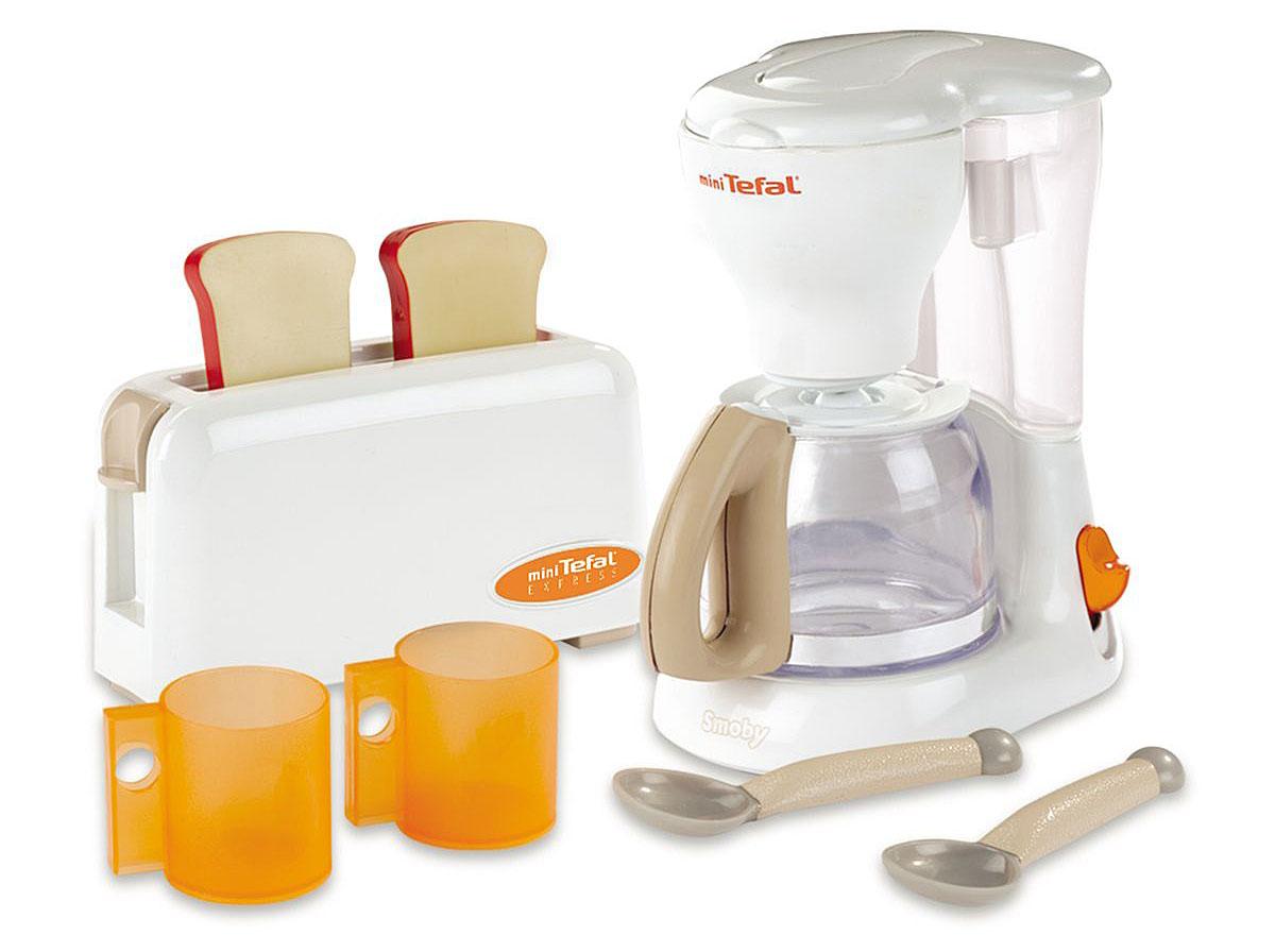 Smoby Игровой набор Тостер и кофеварка Tefal бытовая техника игрушечная smoby smoby набор tefal тостер кофеварка