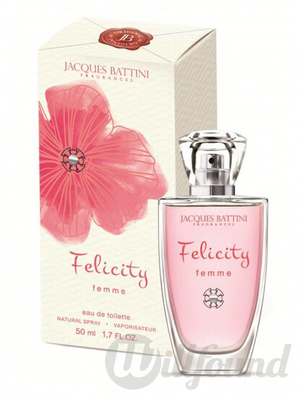 Jacgues Battini Cosmetics Парфюмерная вода для женщин Felicity, 100 мл5902020047957это аромат для женщин, принадлежит к группе ароматов шипровые цветочные. Felicity выпущен в 2012. Верхние ноты: Бергамот, Лимон и Мандарин; ноты сердца: Роза, Пион и Мускатный орех; ноты базы: Сандал, Ваниль и Мускус.Felicity Jacques Battini - это аромат для женщин, принадлежит к группе ароматов шипровые цветочные. Felicity выпущен в 2012. Верхние ноты: Бергамот, Лимон и Мандарин; ноты сердца: Роза, Пион и Мускатный орех; ноты базы: Сандал, Ваниль и Мускус.