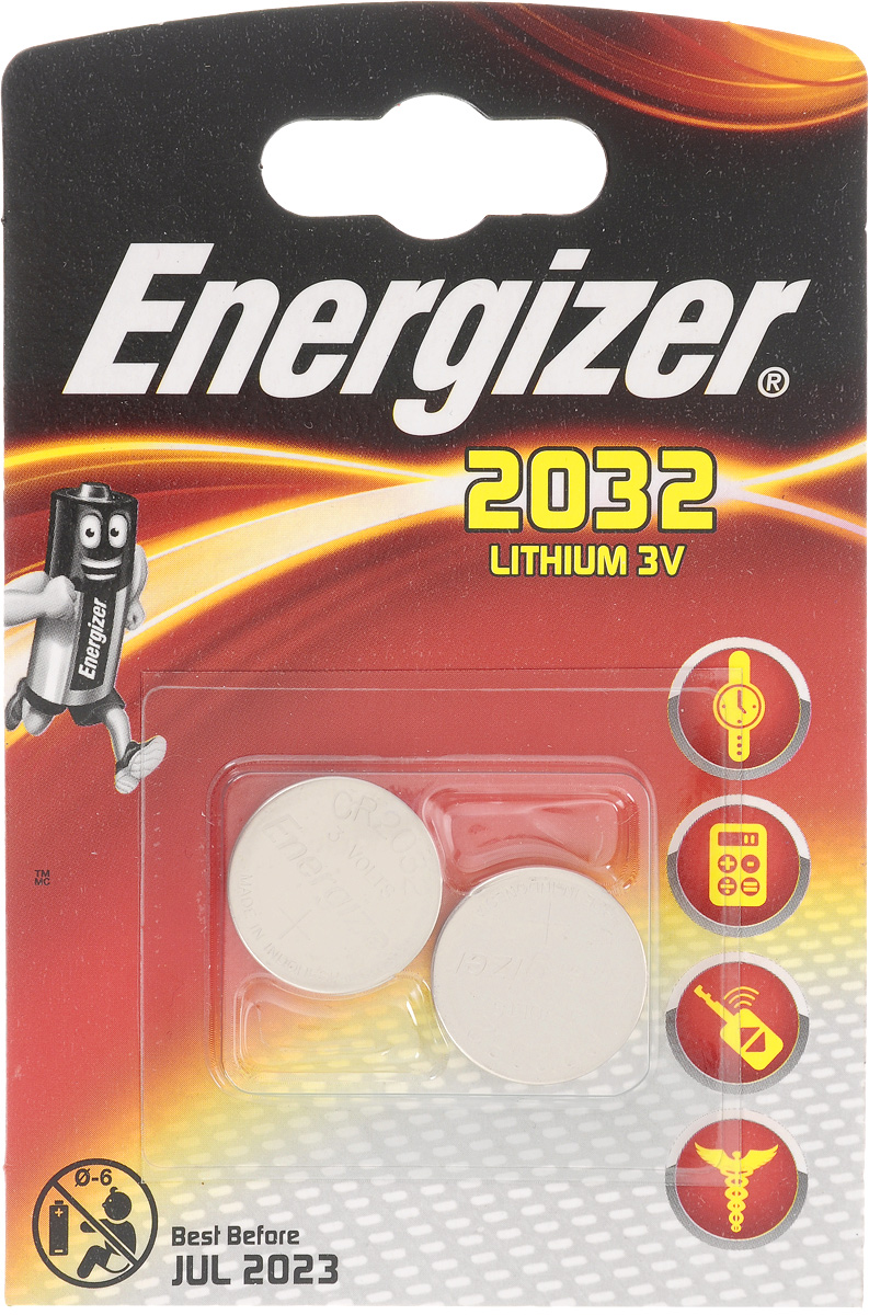 Батарейка Energizer Lithium, тип CR2032, 3V, 2 шт taj exotica resort