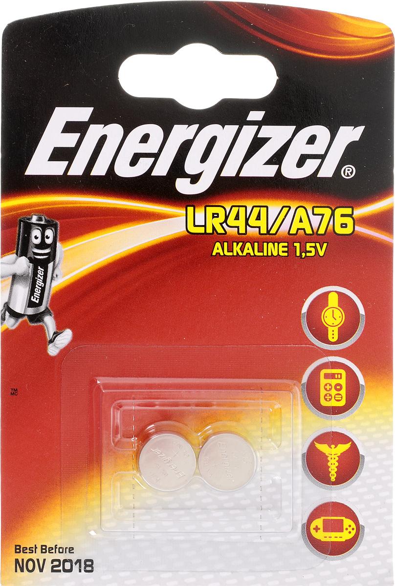 Батарейка Energizer Alkaline, тип LR44/A76, 1,5V, 2 шт батарейки energizer alkaline power аа 6 шт