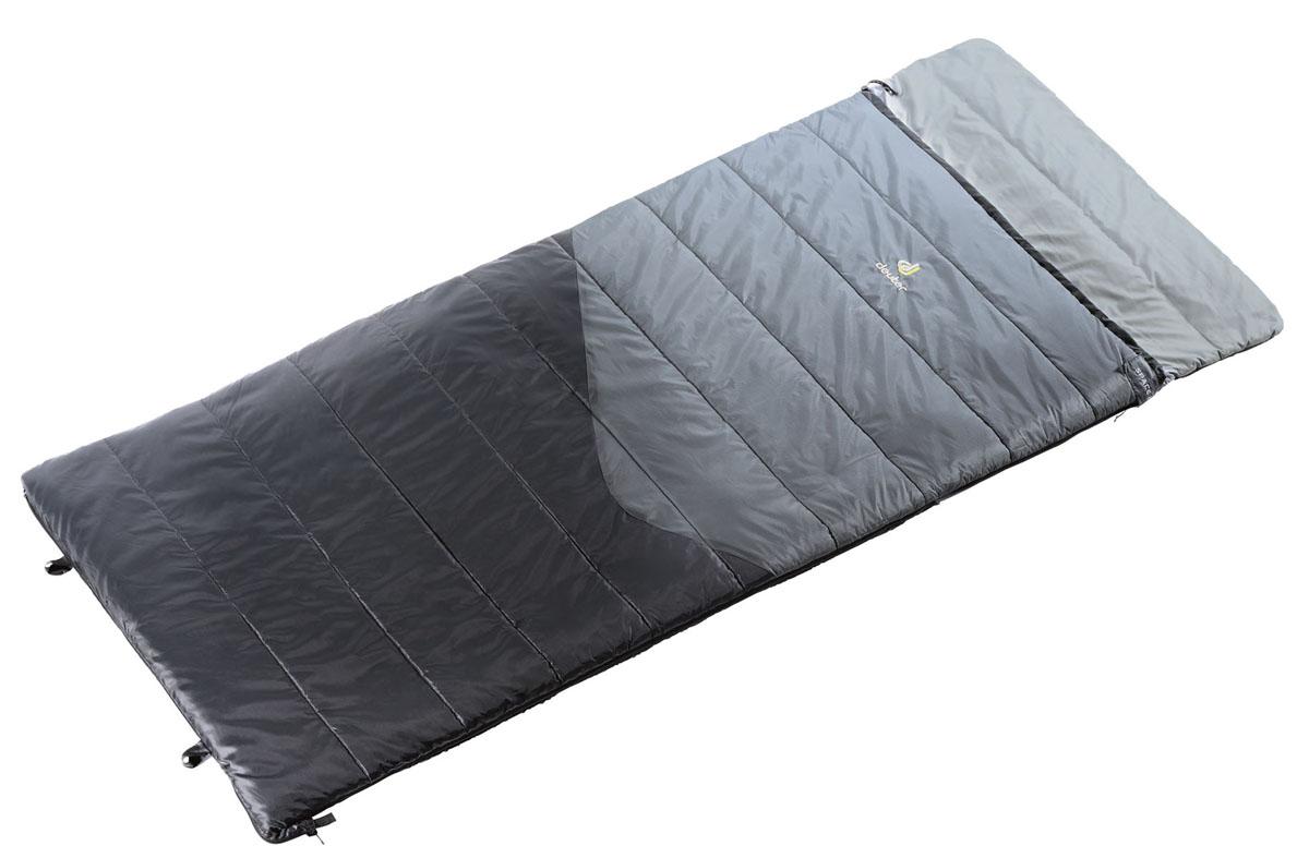 Спальный мешок Deuter Space I, цвет: черный, серый, правая молния