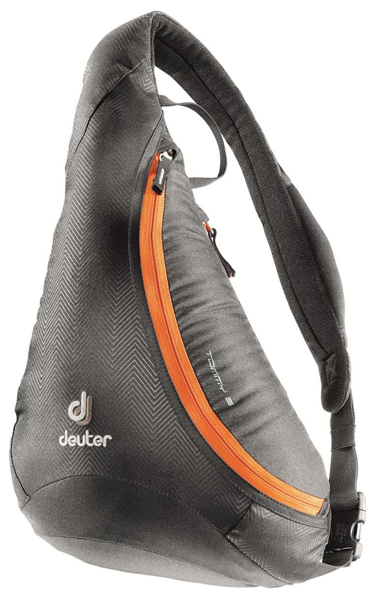 Рюкзак Deuter Tommy S, цвет: черный, оранжевый, 5 л81203_7900Стильный рюкзак Deuter Tommy изготовлен из прочного полиэстера и нейлона. Он подойдет как для городских прогулок, так и для туров на открытом воздухе. Рюкзак имеет одно основное отделение, которое закрывается на застежку-молнию. Внутри содержится отделение на резинке и органайзер для мелочей. Сбоку имеется вместительный карман на застежке-молнии. Рюкзак оснащен удобным мягким плечевым ремнем, который регулируются по длине. На ремне имеется небольшой кармашек на застежке-молнии. Текстильная ручка удобна для подвешивания модели и для переноски в руках. Стильный рюкзак Deuter Tommy эффектно дополнит ваш яркий образ и станет незаменимым в повседневной жизни.