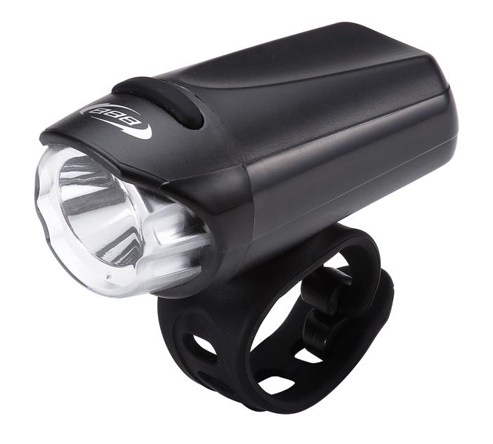 Фонарь передний BBB EcoBeamBLS-75В легком и компактном фонаре BBB EcoBeam используется яркий светодиод Philips Luxeon 3535 LED, 0,3 Вт. Имеет водонепроницаемый корпус с герметизированной завинчивающейся головкой. Фонарь экономично потребляет энергию для долгой работы. Оснащен обрезиненной кнопкой включения под цвет хомута. Подходит для рулей с любым диаметром (стандартный и оверсайз). Фонарь имеет 2 режима работы: простой и мигание.Простой в установке, настраиваемый силиконовый хомут для крепления на руль с регулировкой угла наклона в комплекте.