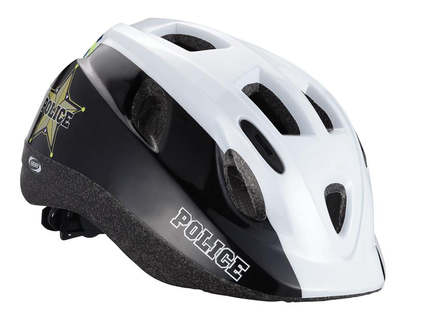 Шлем летний BBB Boogy Police, цвет: черный, белый. Размер M