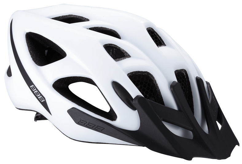 Летний шлем BBB 2015 helmet Elbrus with visor matt white. Размер L (57-63 см)