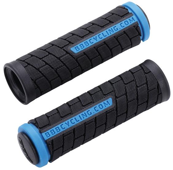 Грипсы BBB DualGrip, цвет: черный, синий, 10,2 см, 2 шт. BHG-07