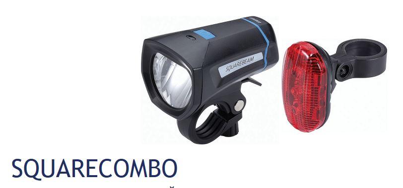 Фонарь передний BBB SquareCombo Stvzo black 2xAAA + 4x AAABLS-102KФонарь передний BBB SquareCombo Stvzo black - фонарь передний SquareBeam BLS-101K и задний RearLaser BLS-78. Хороший комплект освещения. Передний фонарь с постоянным световым потоком, двумя режимами работы и удобным зажимом для установки на руль. Задний фонарь с тремя светодиодами и двумя режимами работы. Оба фонаря влагозащищенные. Батарейки в комплекте.