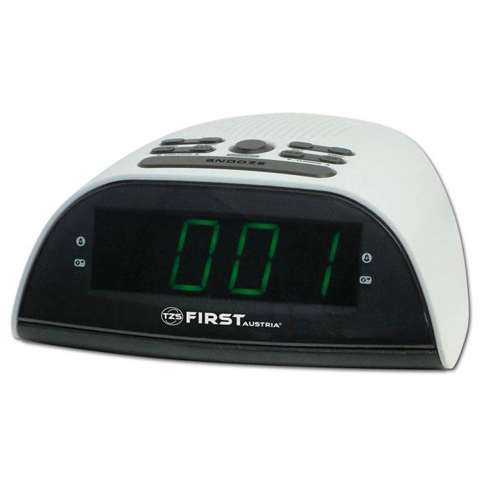 First FA 2406-4, White радиочасыFA 2406-4 WhiteFirst FA 2406-4 - часы с кварцевым стабилизатором и функцией радио для тех, кто хочет просыпаться под музыку любимой радиостанции. Модель оснащена удобным цифровым дисплеем 0.9. Имеется память на 10 станций FM и AM. Пробуждение возможно как под музыку, так и под сигнал будильника. Радиочасы работают от сети переменного тока, а в качестве резервного питания используются две батарейки типа ААА.