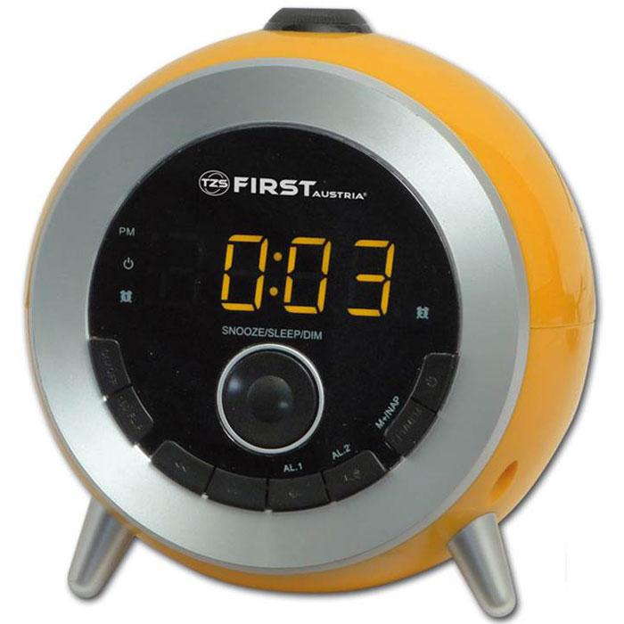 First FA-2421-6, Orange радиочасыFA-2421-6 OrangeFirst FA-2421-6 - стильные радиочасы с проектором. Модель оснащена удобным цифровым дисплеем 0.6 с двумя цветами индикации и возможностью регулирования яркости подсветки. Имеется также функция установки повтора сигнала, сразу двух будильников или будильника на выходные дни.