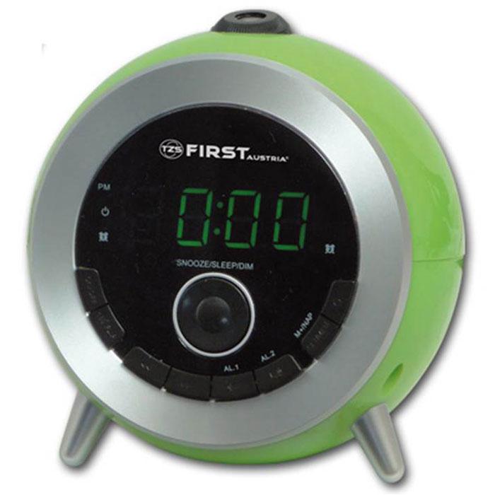 First FA-2421-6, Green радиочасы радио часы first радиочасы с проектором 2421 8 black lcd дисплей 1 2 синий