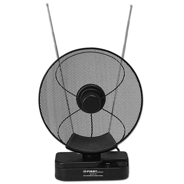 First FA-3102, Black комнатная ТВ-антенна d color dca 111 комнатная тв антенна пассивная