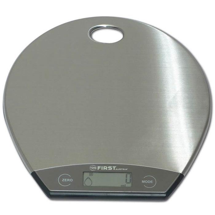 First FA-6403-1, Grey весы кухонныеFA-6403-1 GreyКухонные весы First FA-6403-1 - это отличный помощник на вашей кухне. Функция компенсации тары позволит взвешивать не учитывая массу тары, а высокая точность даст возможность точно следовать вашим любимым рецептам. С помощью данной модели также можно измерять объем жидкости.
