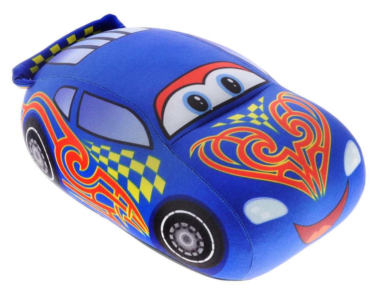 СмолТойс Мягкая игрушка-антистресс Гоночная машинка цвет синий 25 см