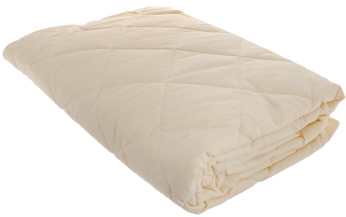 Наматрасник Легкие сны, наполнитель: овечья шерсть, 90 х 200 смНМ-090-ОШНаматрасник Легкие сны защитит ваш матрас от загрязнений, влаги и пыли, значительно продлевая срок его службы. В качестве наполнителя используется овечья шерсть. Шерсть овцы, благодаря волнистой структуре, хорошо сохраняет тепло и держит форму. Наматрасник, наполненный этим волокном, очень мягкий, легкий и обладает энергетикой натурального материала. Наличие в шерсти ланолина придает изделиям лечебно-профилактические свойства. Проникая в поры кожи, животный жир способствует уменьшению болей в спине. Такой наматрасник станет находкой для людей, страдающих радикулитом. Чехол изделия пошит из поликоттона, прочного и простого в уходе материала, не теряющего своих первоначальных свойств даже при частых стирках. Чехол простеган фигурной строчкой, поэтому наполнитель равномерно распределен внутри и не скатывается. Наматрасник фиксируется по углам при помощи эластичных лент, которые прочно удерживают изделие и не позволяют ему смещаться во время сна. Рекомендуется химчистка. Плотность наполнителя: 200 г/м2.
