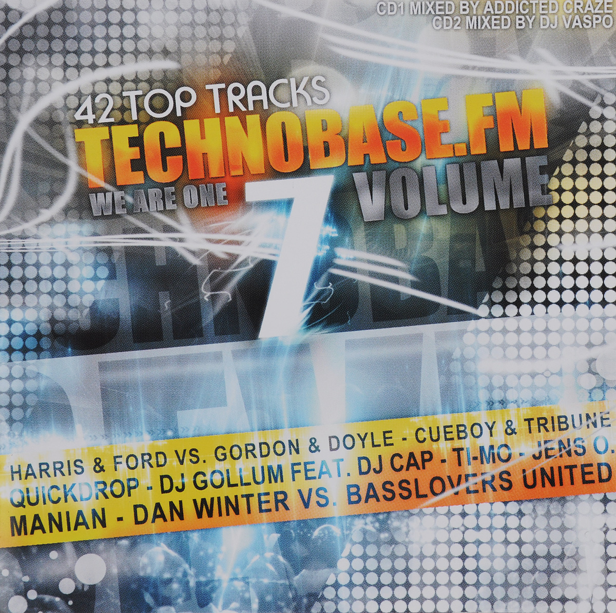 Addicted Craze,L.A.R.S,Cueboy,Tribune,Lolita Jolie,Dj Gollum,Dj Cap,Malu Project,James Stefano,Dj Analyzer Technobase.FM. We Are One. Volume 7 (2 CD) 6w led bola magica sonido mando a distancia dj shop dj efectos luces efectos luz sonido eventos fiestas 7 dmx512 canales