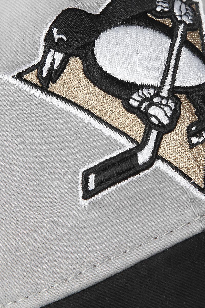 Бейсболка NHL Pittsburg Penguins, цвет:  серый, черный.  29056.  Размер LXL (55-58) NHL