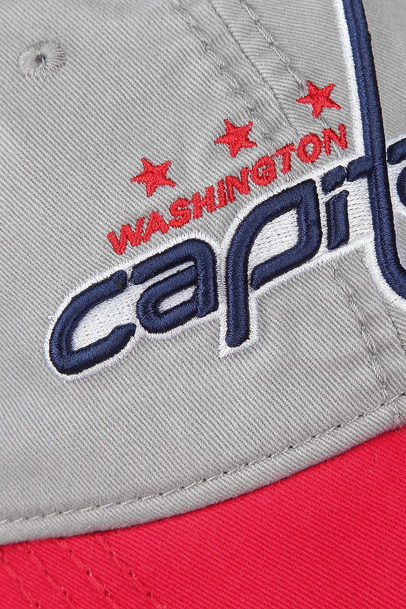 Бейсболка NHL Washington Capitals, цвет:  серый, красный.  29058.  Размер LXL (55-58) NHL