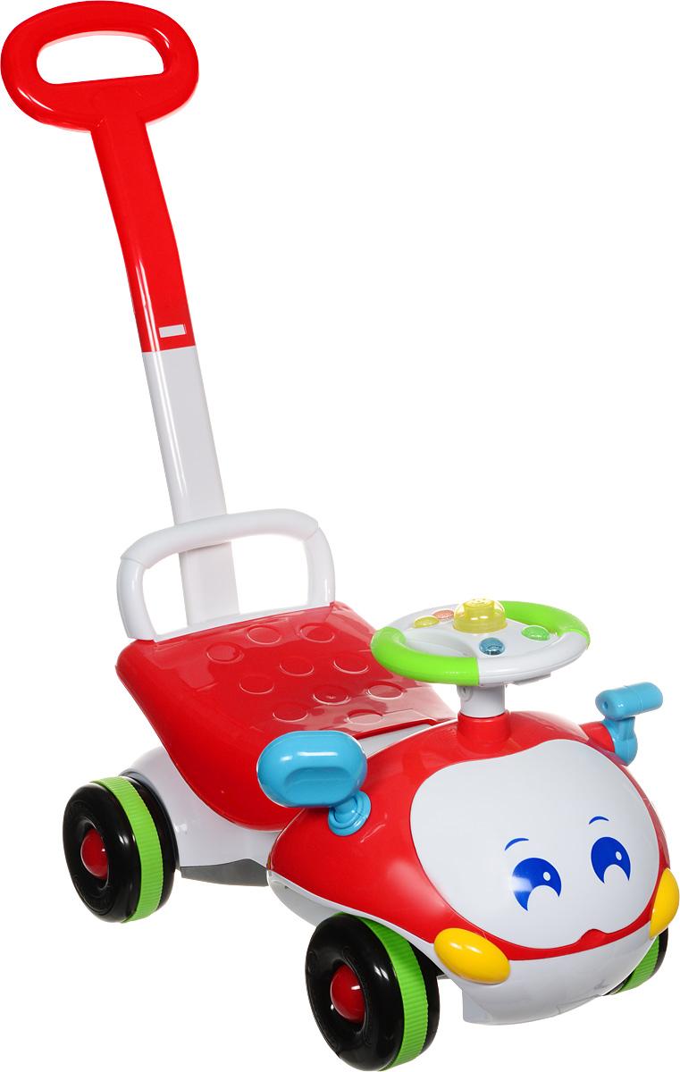 J.R. TOYS Каталка детская с функцией ходунков цвет красный белый - Каталки, понициклы