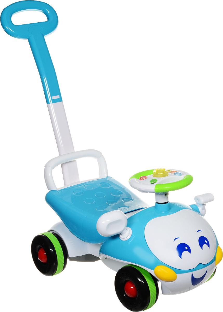J.R. TOYS Каталка детская с функцией ходунков цвет голубой белый - Каталки, понициклы
