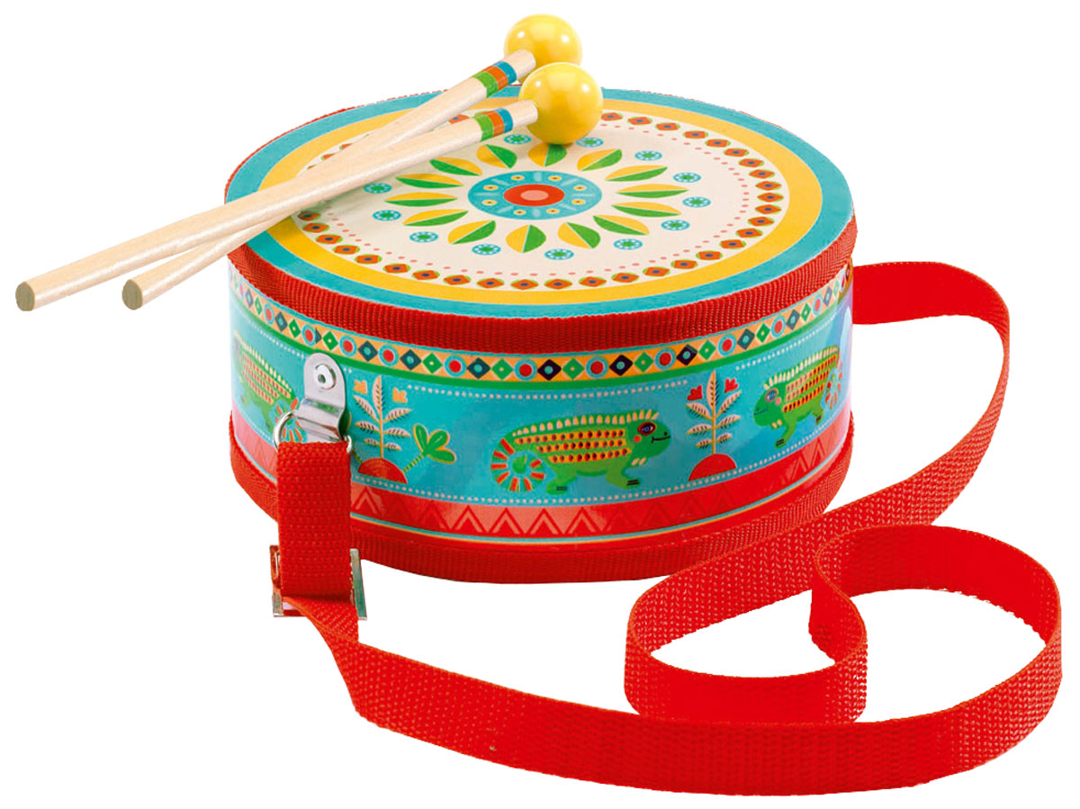 Djeco Барабан цвет голубой красный - Музыкальные инструменты